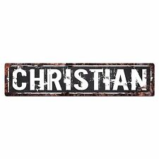 SFND0236 CHRISTIAN MAN CAVE Street Chic Sign Home man cave Decor Gift Ideas