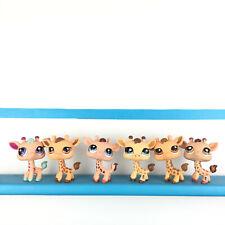 Lot 6 Littlest Pet Shop Giraffe 2303 526 1488 2049 440 902 Girafe LPS Set