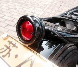Cafe Racer Motorcycle Tail Light Number Plate Bracket Drilled Bobber Chopper