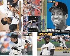 BARRY BONDS 1994 COLLECTORS CHOICE SILVER SIGNATURE (5) CARD LOT SEE LIST & SCAN