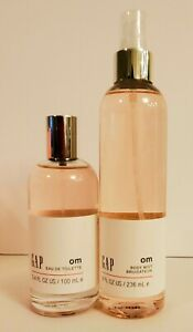 2 BOTTLES Gap OM HER - body MIST 8 OZ FRAGRANCE + EDT 3.4 OZ SPRAY SEALED NEW