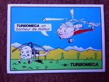 AUTOCOLLANT STICKER AUFKLEBER TURBOMECA TURBINE ENGINE HELICOPTERE HELICOPTER