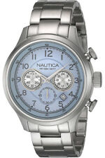 NAUTICA A19631G Men's WATCH Quartz Chronograph with Date Stainless Steel NEW