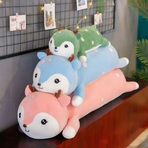Squirrel Plush Toy Soft Stuffed Animal Pillow Long for Birthday Cushion Gift