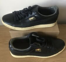 Black Leather Puma Clyde  | UK:8 | US:9| EUR:42 | Pre Owned