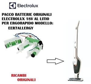 PACCO BATTERIE  ORIGINALI ASPIRAPOLVERE ERGORAPIDO ELECTROLUX EER7ALLERGY 18V