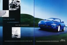 1998 1999 Jaguar Xk8 Convertible 2-page Advertisement Print Art Car Ad K01