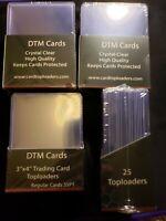 Trading Card Toploader 100 Hard Plastic Clear Case Holder Baseball Basketball