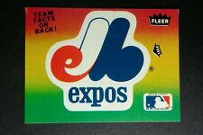 MONTREAL EXPOS LOGO SEASON TOTALS 1983 PEEL OUT BASEBALL TRADING CARD STICKER