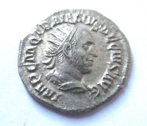 Silver-Antoninian of Trajanus Decius      Rv. Dacia standing left