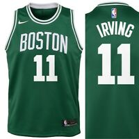 Kids Nike NBA Kyrie Irving Boston Celtics Swingman Jersey Green Youth All Sizes