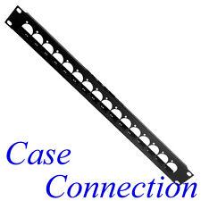 1he rackblende 16x D-form-acero con prensacables # XLR D-Type rack panel
