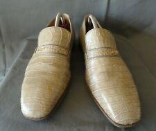 Men's Beige Aligator MAURI Slip On Shoes Sz-11.5E Made in Italy