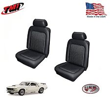 Black Front Bucket Seat Upholstery for 1969 Mustang, Made in the USA by TMI!