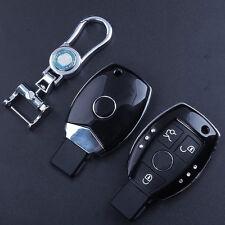 ABS Paint Black Auto Key Case For Mercedes Benz W203 W211 CLK C180 E200 AMG C
