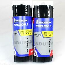 Two (2) Pack Michelin Krylion 2 700x23 Road Clincher Folding Bike Tires Pair