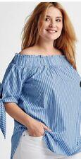 BOHO COTTON PLUS SIZE OFF SHOULDER WOMENS TOP BLOUSE TUNIC SUMMER  UK 18 20 22