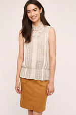 NWT Anthropologie Rosewood Lace Blouse, by Tiny - Ivory, size L