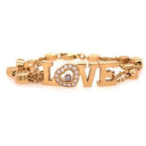 Chopard Happy Diamond Love Bracelet in 18K Yellow Gold