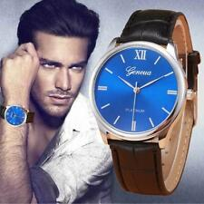 Retro Sport Leather Alloy Analog Quartz Casual Dress Men's Wrist Watches
