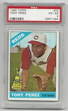 Tony Perez 1966 Topps Card,# 72, PSA VG / EX - 4, Cincinnati Reds