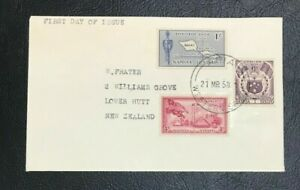 Samoa 1958 FDC Cover to New Zealand