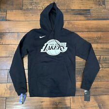 Men's Nike Los Angeles Lakers Black GameTime Hoodie Staples Center Size Small