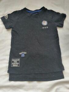 Boys Childrens T-Shirt Space Astronaut Black Age 6 Tu