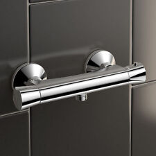 Thermostatic Bar Mixer Brass Shower Valve Only | Exposed Bottom Outlet Chrome