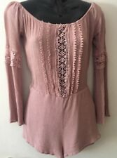 FOREVER 21 Lightweight Mauve Romper Junior Women Size S M Shorts Outfit EUC pink