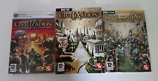SID MEIER'S CIVILIZATION 3 COMPLETE GAME + 2 EXPANSION PACKS PC GAME CD-ROM