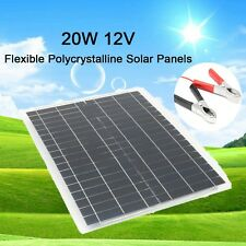 20w 12V Flexible Solar Panel Kit + 4m Cable for car battery car RV boat SUV home