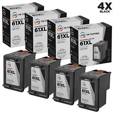 LD Remanufactured Replacement for HP 61 CH561WN Black Ink Cartridge, 4-Pack