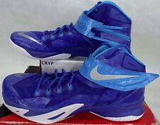 New Mens 18 Nike Zoom Soldier VIII TB Lebron High Top Blue Shoes $145 653648-404