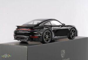 Porsche 911 992 turbo S schwarz metallic diecast 1:18 Minichamps WAP