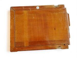 Antique Mahogany & Brass - Whole Plate / Full Plate Holder