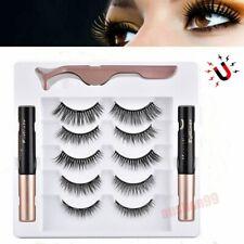 2 Magnetic liquid Eyeliner+5 Magnetic False Eyelashes Easy to Wear Lashes Sets