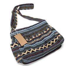 Women Crossbody Bag Vintage Shoulder Handbag Multi-pocket Cotton Ladies Purse