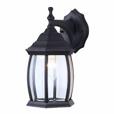 Outdoor Exterior Lantern Light Fixture Wall Mount Sconce, Textured Black