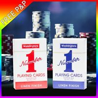 Waddingtons No.1 Classic Playing Cards Red & Blue Poker Set Deck Cards