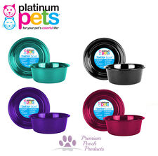 Platinum Pets Dog Bowl SMALL Heavy Dish Bowl 0.5L capacity Suits Dogs up to 9kg