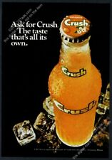 1974 Orange Crush soda bottle photo vintage print ad 2