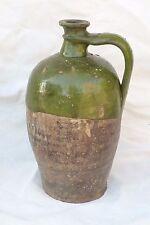 Ancienne jarre à huile cruche en terre cuite vernissé époque XVIIéI XIXé ref 672