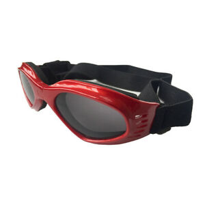 Pet Dog Sunglasses Foldable Puppy Cat Glasses UV Protection Goggles (Red)