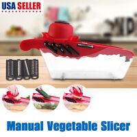 Manual Potato Slicer Vegetable Fruit Cutter Stainless Steel Mandoline Kitchen