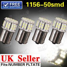 4x 1156 BA15S 382 P21W 50smd White Led Car Tail Brake Signal Light Lamp Bulb 12V