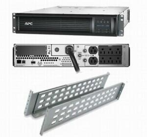 APC SMT1500RM2U Smart-UPS Power Backup LCD 1500VA 1000W 120V Rackmount New Batt
