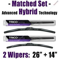 "Matched Set of 2 Hybrid Wipers 26""+14"" Trico Sentry Wiper Blades - 32-260 32-140"