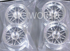 RC Car 1/10 RIMS  WHEELS Package KAWADA  Mesh  STAGGER  CHROME  SET OF 4