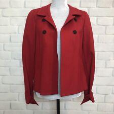 Nina McLemore Red Ponte Knit Blazer Jacket Size 6